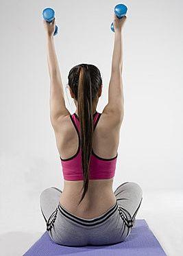 哑铃锻炼完美臂部肌肉
