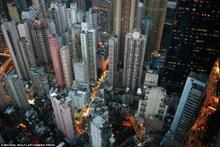 香港高楼极度拥挤似蜂窝